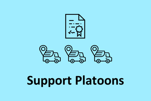 We support platoons